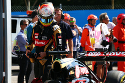 Romain Grosjean, Lotus F1 Team no parc ferme