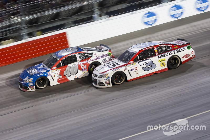 Landon Cassill, Hillman Circle Sport LLC Chevrolet and Austin Dillon, Richard Childress Racing Chevrolet