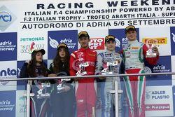 Podio gara 1: David Beckmann, Mucke Motorsport, Guanyu Zhou, Prema power Team,Tatuus F.4 T014, Ralf