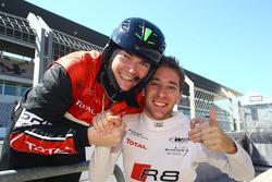 Race winner Robin Frijns
