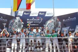 Podium: winners Laurens Vanthoor, Robin Frijns, second place Markus Winkelhock, Niki Mayr-Melnhof, third place Marco Seefried, Norbert Siedler