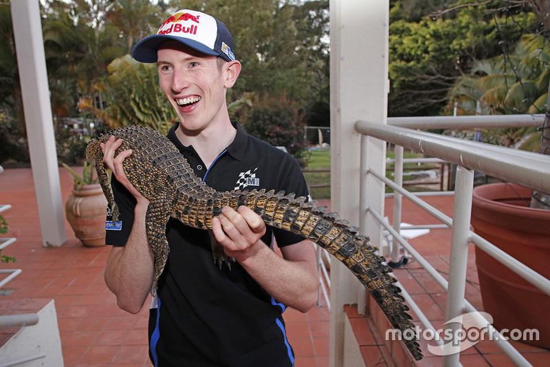 Elfyn Evans, M-Sport, mit Krokodil