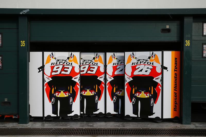 Repsol Honda Team, Garagenbereich