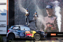 Winners and 2015 WRC champions Sébastien Ogier and Julien Ingrassia, Volkswagen Polo WRC, Volkswagen Motorsport