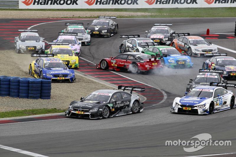 Start: Miguel Molina, Audi Sport Team Abt, Audi RS 5 DTM, mit Dreher