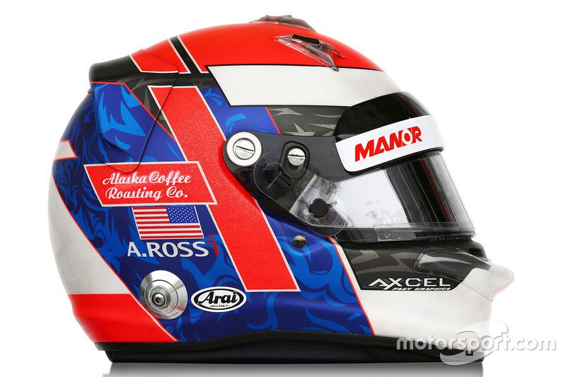 Der Helm von Alexander Rossi, Manor F1 Team