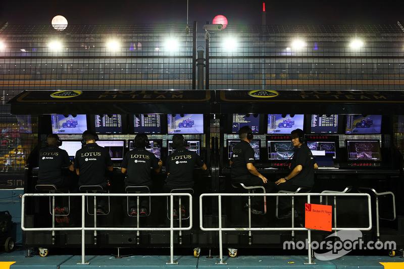 Lotus F1 Team pit pórtico