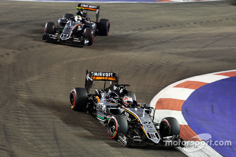 Nico Hülkenberg, Sahara Force India F1 VJM08, vor Teamkollege Sergio Perez, Sahara Force India F1 VJM08