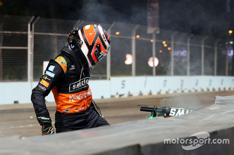 Ніко Хюлкенберг, Sahara Force India F1 розбився та вибув з гонки