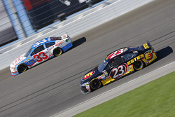 Jeb Burton, BK Racing Toyota; Brian Scott, Richard Childress Racing Chevrolet