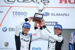 Second place, Satoshi Motoyama, Masataka Yanagida, S Road Mola Nissan GT-R