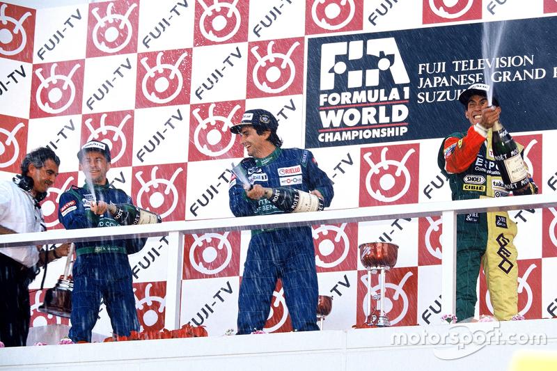 Podium: 1. Nelson Piquet, Benetton; 2. Roberto Moreno, Benetton; 3. Aguri Suzuki, Larrousse