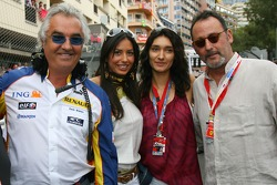 Flavio Briatore, Renault F1 Team, Team Chief, Managing Director, Elisabetta Gregoraci, Lingerie Model and Jean Reno, Famous Actor with his girlfriend