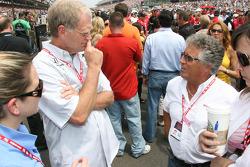 David Letterman and Mario Andretti