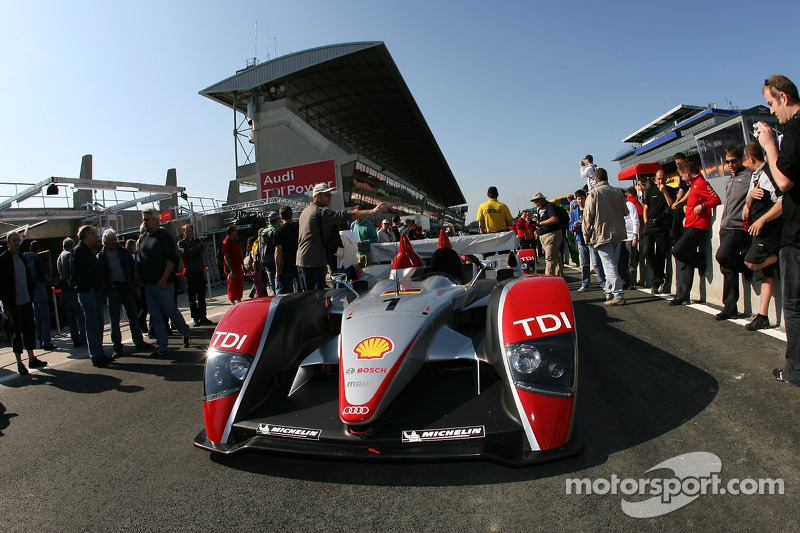 Audi Sport North America Audi R10 heads to scrutineering