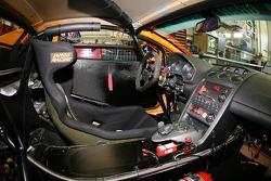 Inside of the Lambo Racing Lamborghini Gallardo GTR