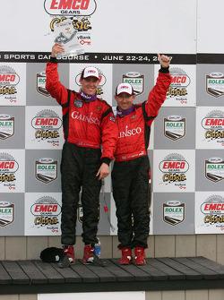 Podium: Jon Fogarty and Alex Gurney celebrate their win