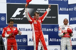 Kimi Raikkonen, Scuderia Ferrari, Felipe Massa, Scuderia Ferrari, Lewis Hamilton, McLaren Mercedes