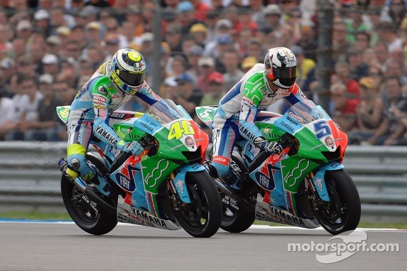 Valentino Rossi en Colin Edwards, Yamaha - Dutch TT 2007