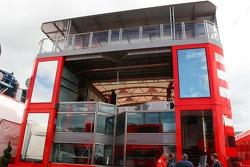 The Scuderia Ferrari Motorhome is constructed
