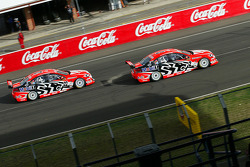 Mark Skaife takes the lead from Todd Kelly
