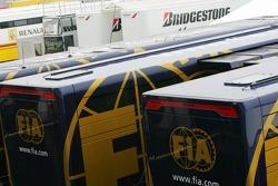 FIA Trucks in the paddock