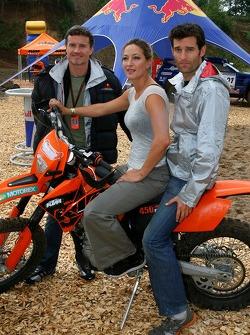 Zoe Bell Award winning Movie stunt double, ve Mark Webber, Red Bull Racing ve David Coulthard, Red Bull Racing