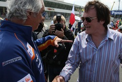 Flavio Briatore, Renault F1 Team, Team Chief, Managing Director and Quentin Tarantino, American Film Director