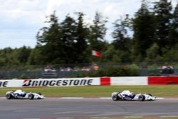 Robert Kubica,  BMW Sauber F1 Team and Nick Heidfeld, BMW Sauber F1 Team