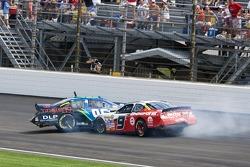 Tony Raines and Kasey Kahne crash