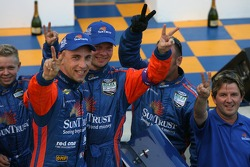Max Angelelli, Jan Magnussen and Wayne Taylor celebrates victory