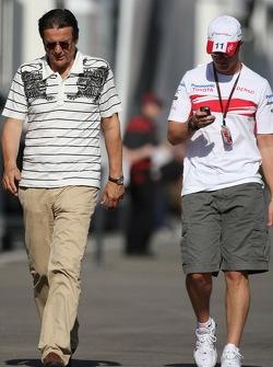 Hans Mahr, Manager of Ralf Schumacher and Ralf Schumacher, Toyota Racing
