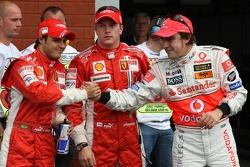 Clasificación resultados 2do lugar Felipe Massa, Scuderia Ferrari con 1er lugar Kimi Raikkonen, Scud