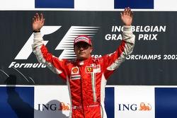 Podium: Sieger Kimi Räikkönen