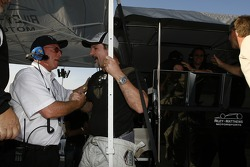 Jim Matthews celebrates the win with Riley-Matthews Motorsports team members