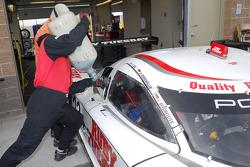 Pre-race fuel for the #23 Alex Job Racing Porsche Crawford