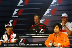 FIA press conference: Rubens Barrichello, Honda Racing F1 Team, Ralf Schumacher, Toyota Racing, Takuma Sato, Super Aguri F1 and Sakon Yamamoto, Spyker F1 Team