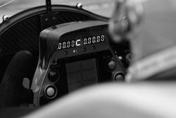 Instrument panel of the Audi Sport North America Audi R10 TDI Power