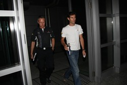 Mark Webber, Red Bull Racing before his meeting with the stewards