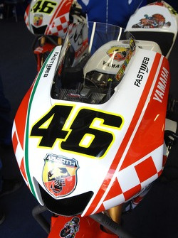 Detail of Valentino Rossi's Abarth M1