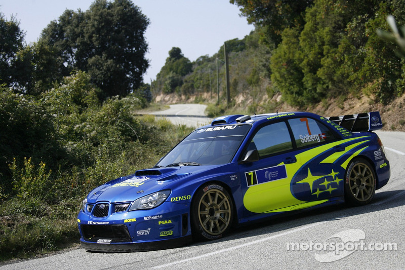 Petter Solberg And Phil Mills Subaru Wrt Subaru Impreza 2007 Wrc At Tour De Corse