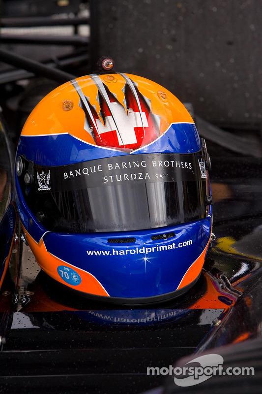 Crash helmet of Harold Primat