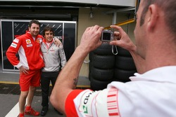 Fernando Alonso, McLaren Mercedes with Ferrari Mechanics