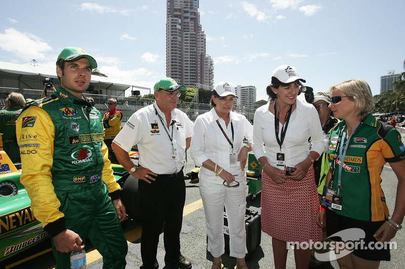 Will Power with the Premier of Queensland Anna Bligh