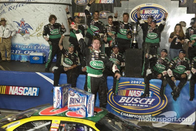 Championship Victory Lane 2007 NASCAR Busch Series Champion Carl