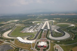 Aerial photo of the circuit from a helicopter
