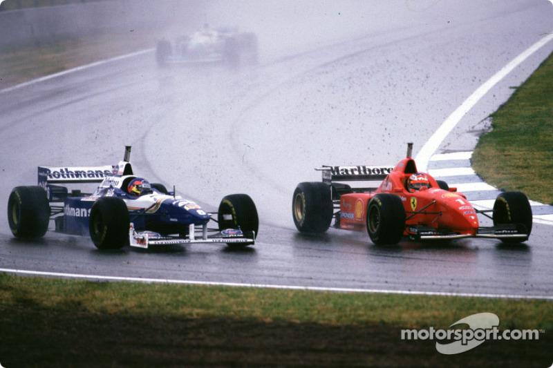 Jacques Villeneuve y Michael Schumacher