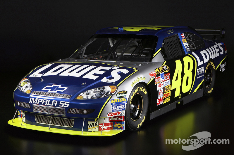The 2008 Hendrick Motorsports Lowe's Chevrolet Impala SS of Jimmie Johnson