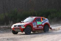 Repsol Mitsubishi Ralliart Team shakedown test: Nani Roma and Lucas Cruz Senra