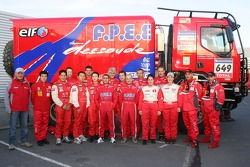 Team Dessoude presentation in Saint Lo: AndrÈ Dessoude poses with his drivers and co-drivers